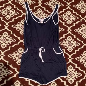 Navy Blue Soft Romper NWT